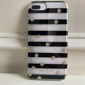 kate spade Black and Gold Stripe iPhone Case